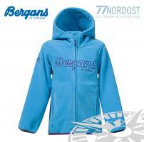 BERGANS Bryggen Kids Fleecejacke bright sea blue