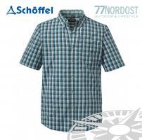 SCHÖFFEL Shirt Kuopio UV blau grün kariert