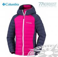 Columbia POWDER LITE PUFFER Girls pink navy